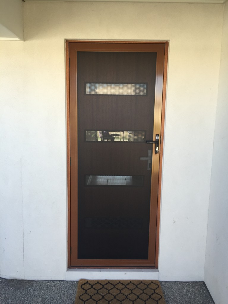 Prowler Proof Security Screen Hinge Door