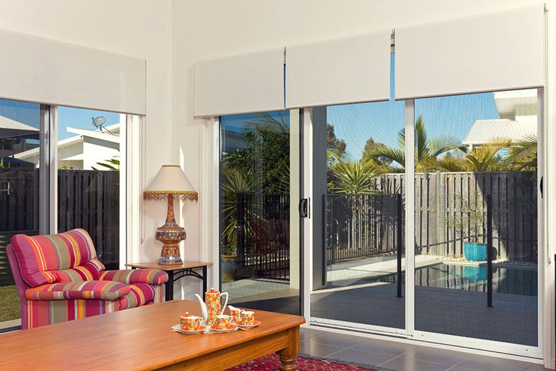 Prowler Proof Security Screen Doors on Sliding Doors