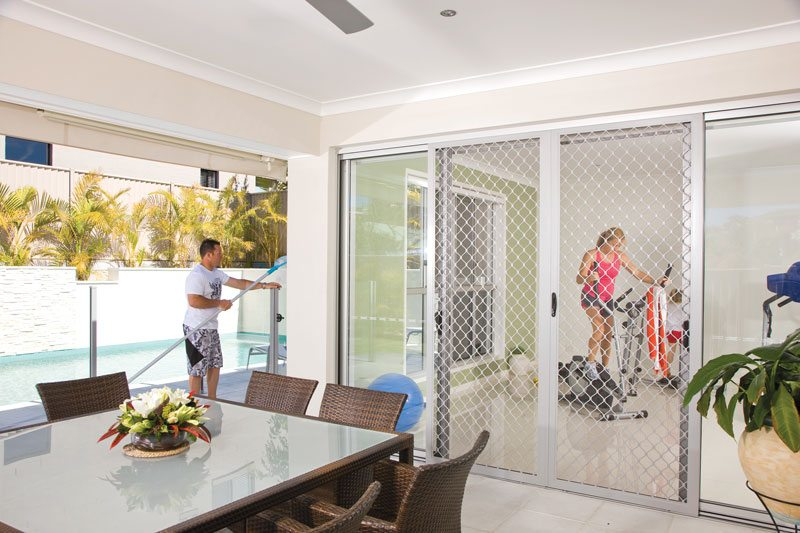 Diamond Security Screen Sliding Door