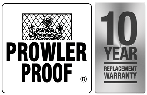 Prowler Proof 10 Year Replacement Warranty
